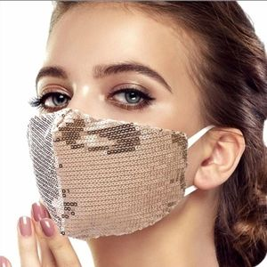 Accessories - Any 2 $30 Gold Sparkle Sequin Face mask